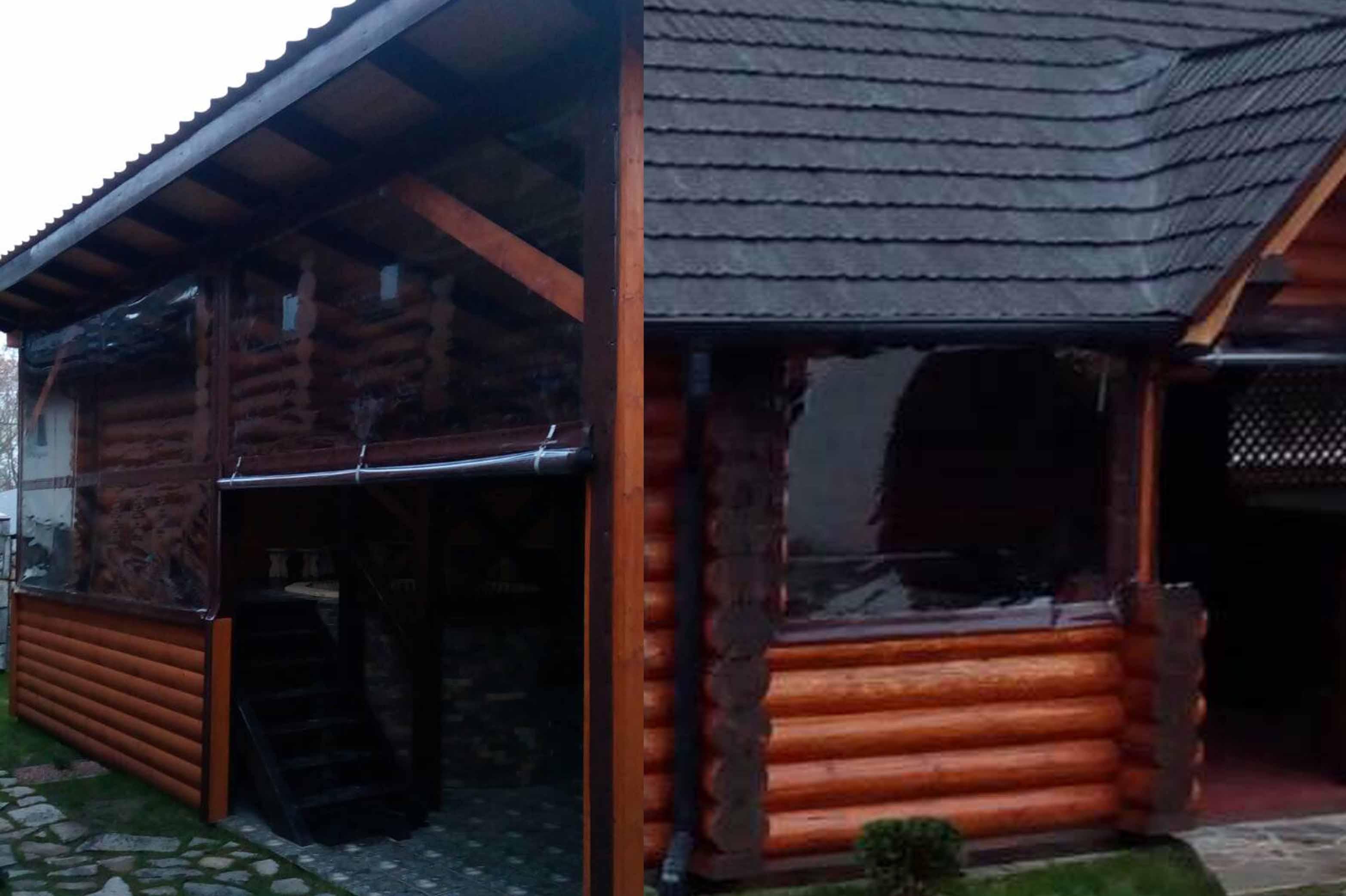 Бокові захисні штори колиба