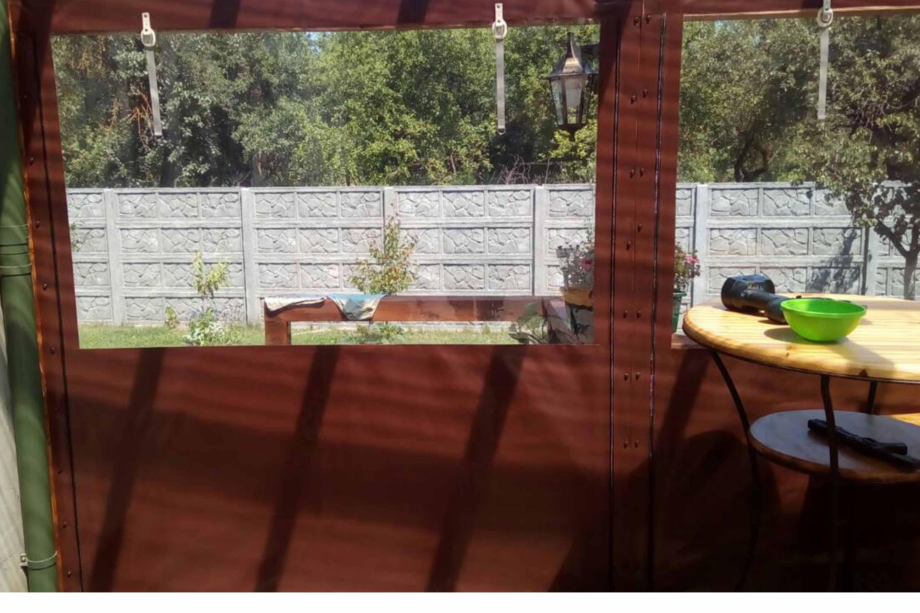 Бокові захисні штори сел1